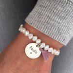 pulsera perla rio placa redonda1